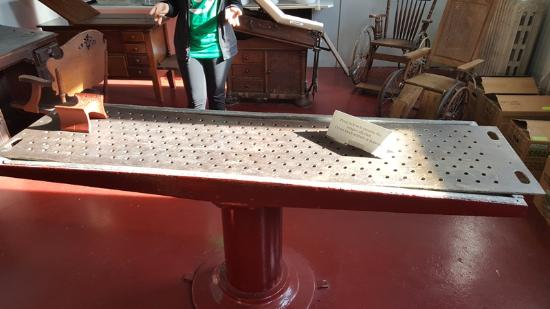 Indiana Medical History Museum: Autopsy table