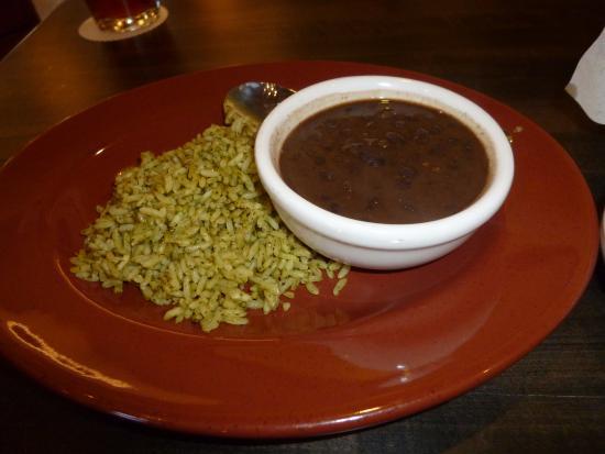 Guadalajara Mexican Grill & Bar: Cilantro rice and charro-style black beans
