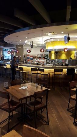 A View Of The Large Dining Area Picture Of California Pizza Kitchen Houston Tripadvisor