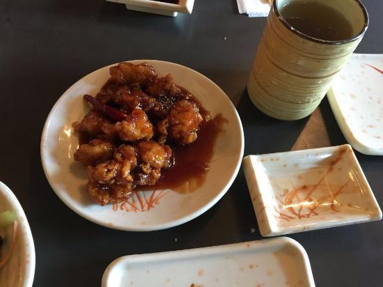 General tao chicken big portion half eaten picture of for Aji sai asian cuisine