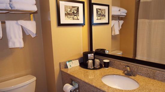 Comfort Inn & Suites Alexandria: Full bathroom en suite