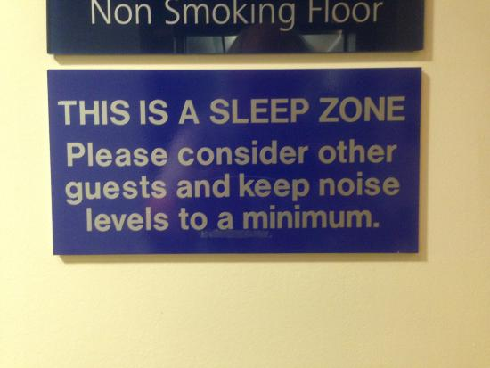 Holiday Inn Express Dunfermline: Quiet Zone clearly marked!