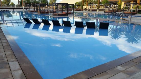 m resort spa casino pool lounge chairs