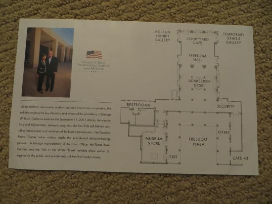 Exhibition Floor Plan Picture Of The George W Bush Presidential