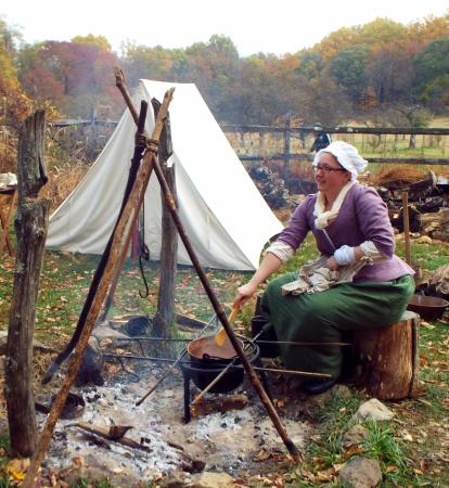 Jockey Hollow: Reenactments of the encampment take place on certain weekends.