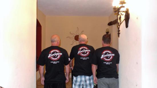 Hooliganz Corner Bar: Our Three Hooliganz....just had to have the shirt!