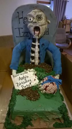 Tremendous Nephews Awesome Birthday Cake Picture Of Desserts Etc Hershey Personalised Birthday Cards Akebfashionlily Jamesorg