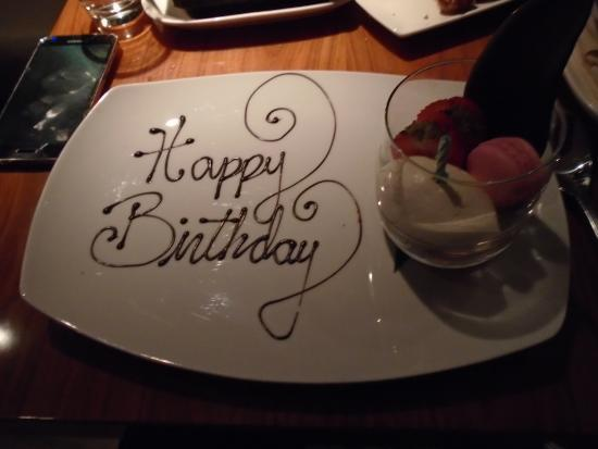Happy Birthday Dessert Compliments Of Stk Picture Of Stk