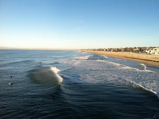 Sunrise Facing Long Beach Picture Of Huntington Beach Pier