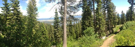 Tamarack, ID: Hiking to a zip line station