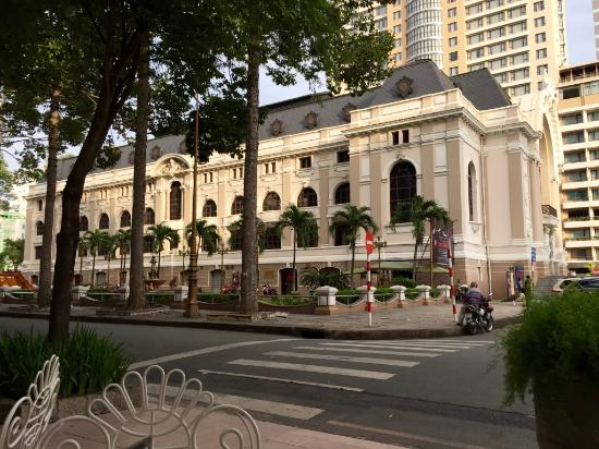 Hotel Continental Saigon View From Sidewalk Cafe To The Opera