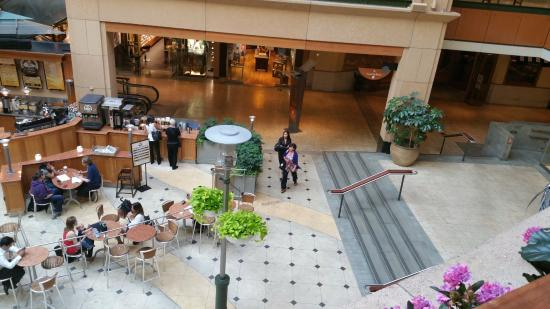 View of Ground Level from Overlook at Pacific Place Mall