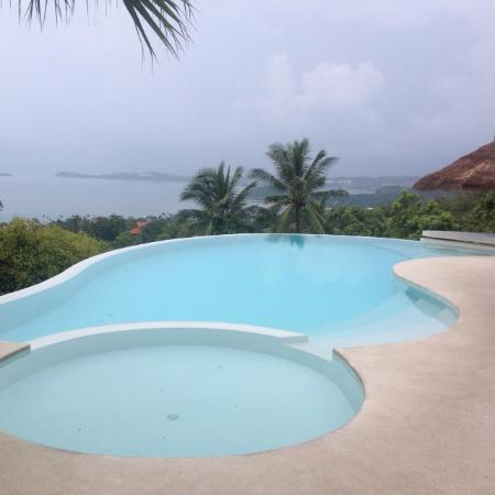 The Yogarden: Our fab pool overlooking the Ocean..