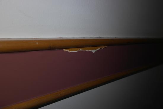 South Mimms, UK: Paint peeling off.