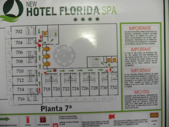 Florida Spa: Floor plan