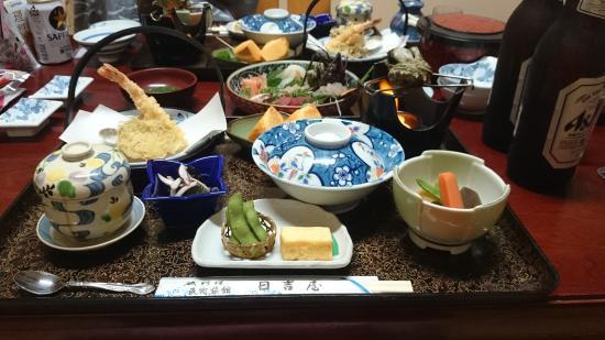 Mnshuku Ryokan Hiyoshiya: 夕飯