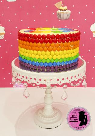 Peachy Skittles Rainbow Cake Picture Of My Little Baker Sweets Abu Funny Birthday Cards Online Barepcheapnameinfo
