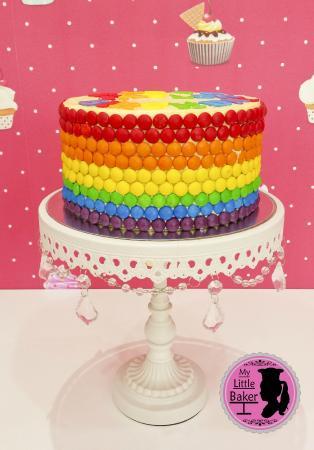 Astonishing Skittles Rainbow Cake Picture Of My Little Baker Sweets Abu Birthday Cards Printable Benkemecafe Filternl