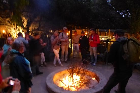 Schotia Safaris Private Game Reserve: Lap - One of 2 camp fires