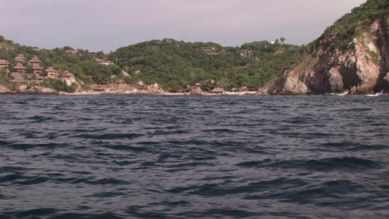 Bahia Estacahuite: view from snorkel boat