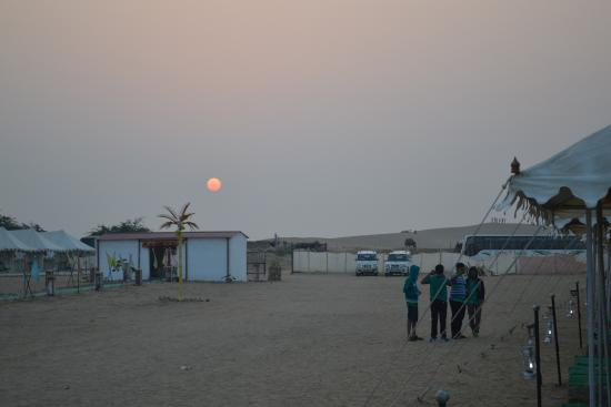 Mehar Adventure Safari Camp: Sunrise At Meher Desert Camp