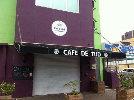 Cafe de Tijd Curacao : Fachada do local pela manhã