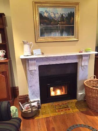 Akaroa House: fireplace