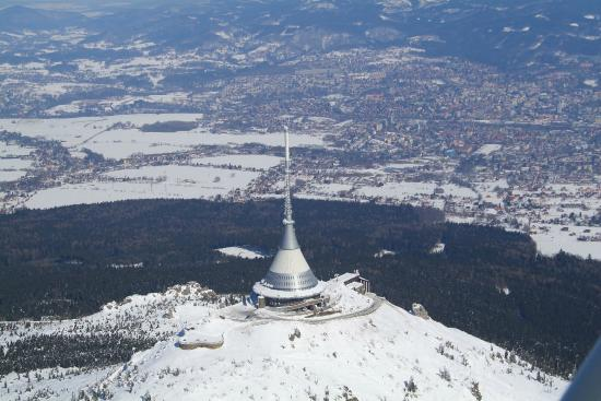 Liberec, Republika Czeska: Zimní hotel Ještěd