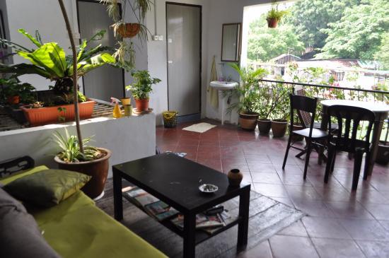 River View Guest House: Terraço comunitário