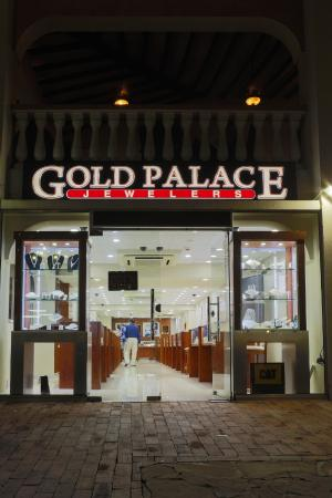 Exterior of Gold Palace Jewelers (hotel area location)