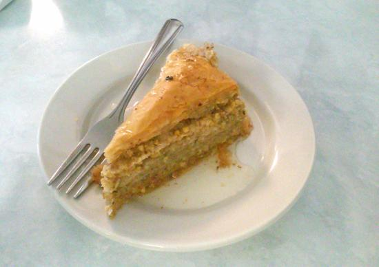 The Greek Village : baklava as large as a slice of pie