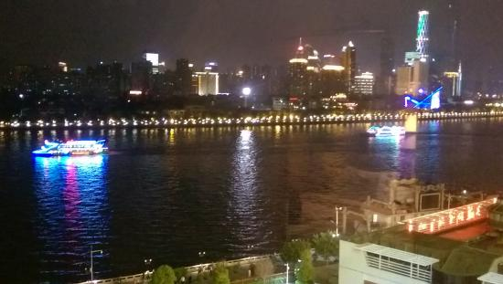 Gold Coast Marina Club Guangzou : View from my room (of boats on the Pearl River)