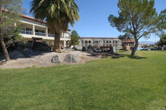Amargosa Valley, NV: Mooi aangelegde tuin achter het hotel