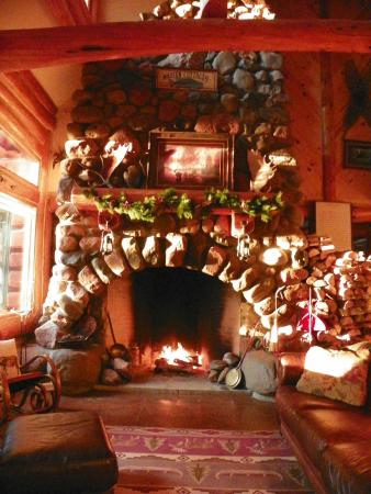 Grand Marais, Minnesota: The most beautiful fireplace I've ever seen