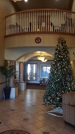Quality Inn & Suites: lobby with christmas decor