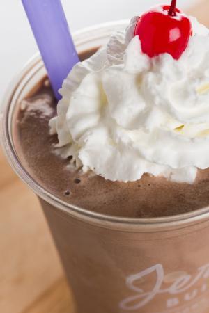 Jerry Built Homegrown Burgers: Hand Spun Chocolate Shake