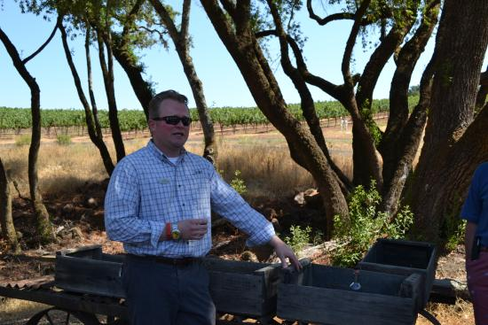 Jordan Vineyard & Winery: Our tour guide