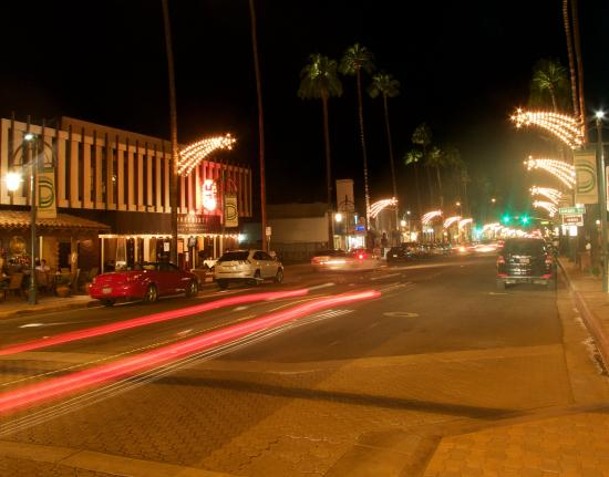 Fun on palm canyon road at night picture of palm canyon for Palm springs strip hotels