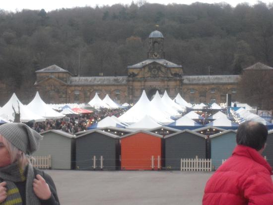 Chatsworth House View of The Christmas Market.