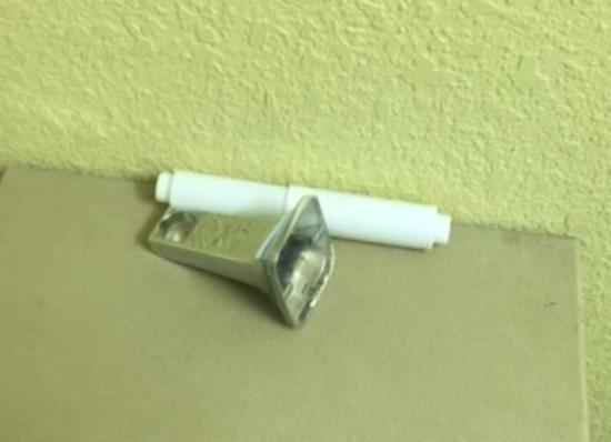 Broken Toilet Paper Holder Left In Room By Staff Picture