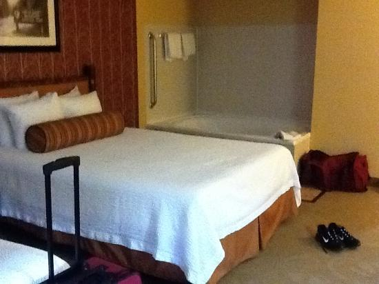 Bearskin Lodge on the River Hotel: We were upgraded to room that had large tub.