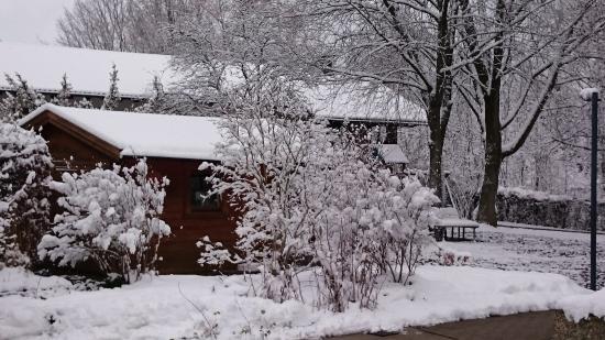 Wolfegg, Alemania: Winterlicher Blick aus dem Restaurant