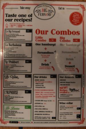 Neuilly-sur-Seine, Francia: The menu (as of August 2015)