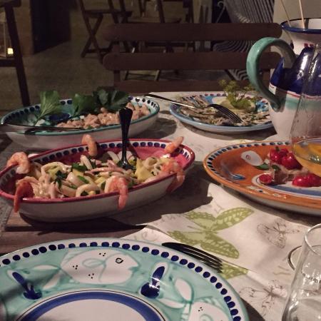 Antipasti di mare picture of amalfi coast home for Amalfi coast cuisine