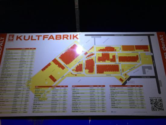 Kultfabrik: план территории