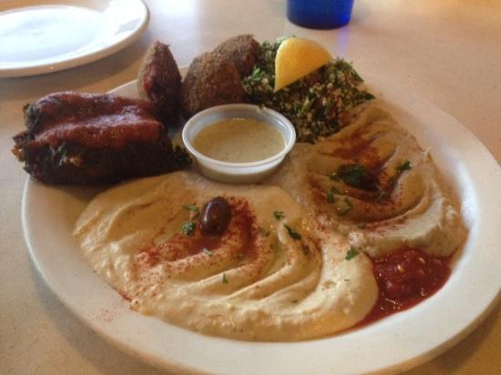Jerusalem Cafe: Mixed appetizer plate