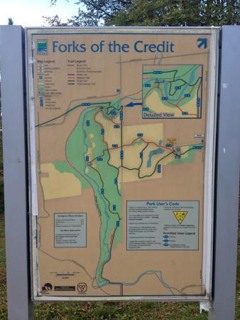 forks of the credit provincial park map pdf