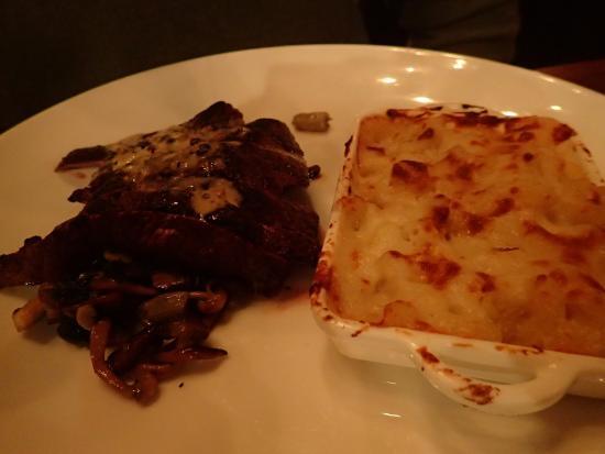 Bethesda, MD: flatiron steak with mac and cheese