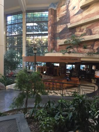 Omaha Steakhouse: View from inside the hotel - behind the bar