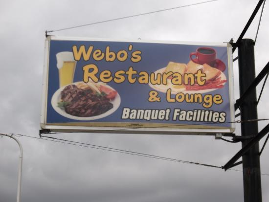 Webo's Restaurant: Sign for good eating